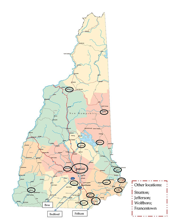 New Hampshire - areas where coops delive