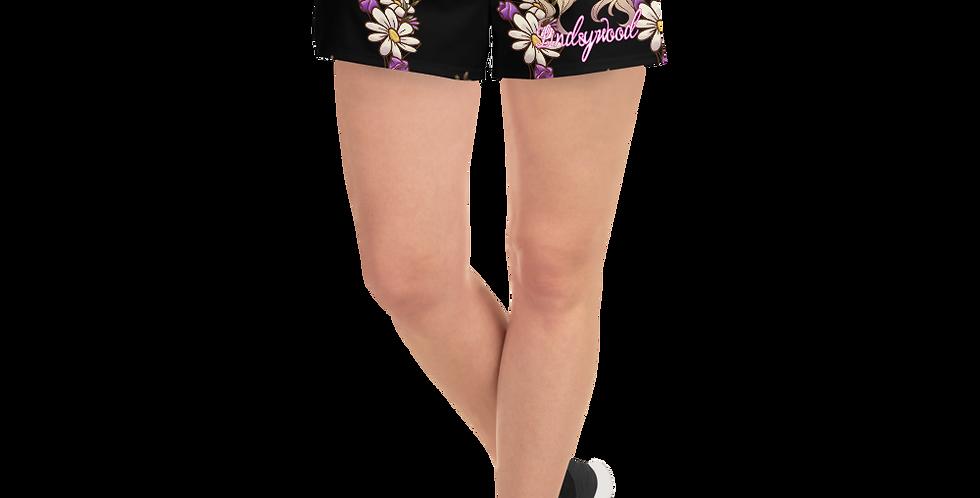 lindsywood logo Women's Athletic Short Shorts