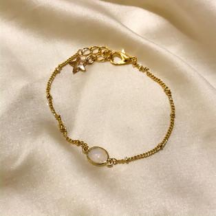 Bracelet breloque - plaqué or 24 carats - 25,90€