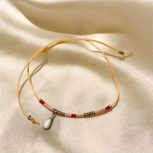Bracelet fil de jade blanc - 16,90€