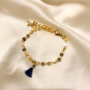 Bracelet pompon - plaqué or 24 carats - 17,90€