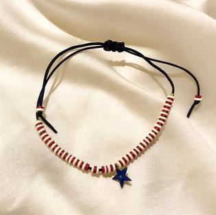 Bracelet fil de jade étoile bleu - 16,90€