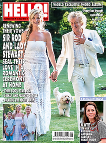 Images from Sir Rod Stewart's and Penny Lancaster's renewing of their vowels