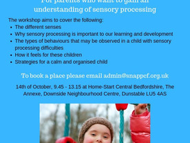 An introduction to Sensory Processing by SNAP PCF