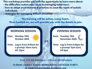 Autism and Behaviour - online workshops