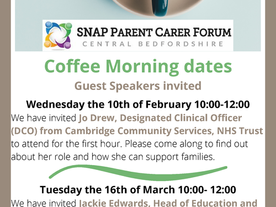 SNAP coffee morning dates for your diary