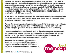 Update from Leighton Buzzard Mencap