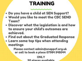 SEND support training from SNAP PCF