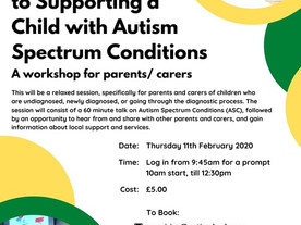 Workshop: Supporting a child with Autism Spectrum Conditions