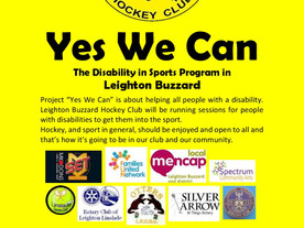 Free hockey sessions with LB Hockey Club and YES WE CAN