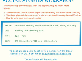 Parent/Carer Social Stories Workshop