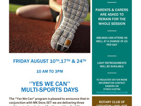 YES WE CAN multi-sports days from Rotary Club of Leighton Linslade