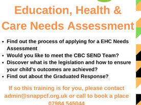 EHC Needs Assessment training from SNAP PCF