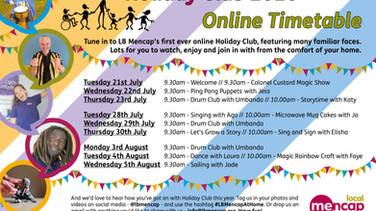 Holiday Club 2020 is going online