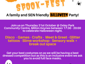 A family and SEN-friendly Halloween disco from Spectrum Community Arts