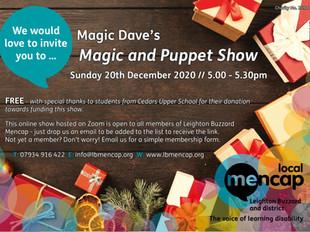 Magic Dave's online show for LB Mencap