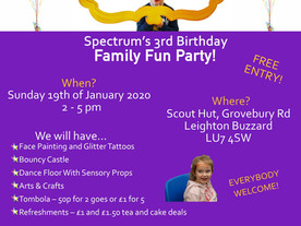 Spectrum Community Arts' 3rd birthday party