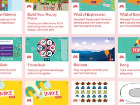 Find lots of free online games at Childline