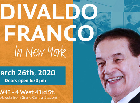 Divaldo Franco In New York - March 26, 2020