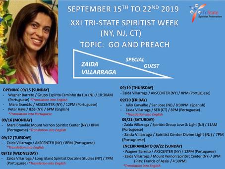XXI Tri-State Spiritist Week - September 15-21, 2019