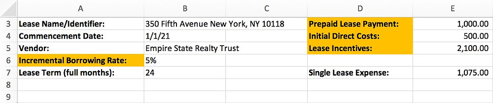 Create input fields at the top of your spreadsheet to record the following key data that drive your amortization schedule results