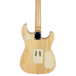 Left-Handed Natural Flame Maple ES Hybrid
