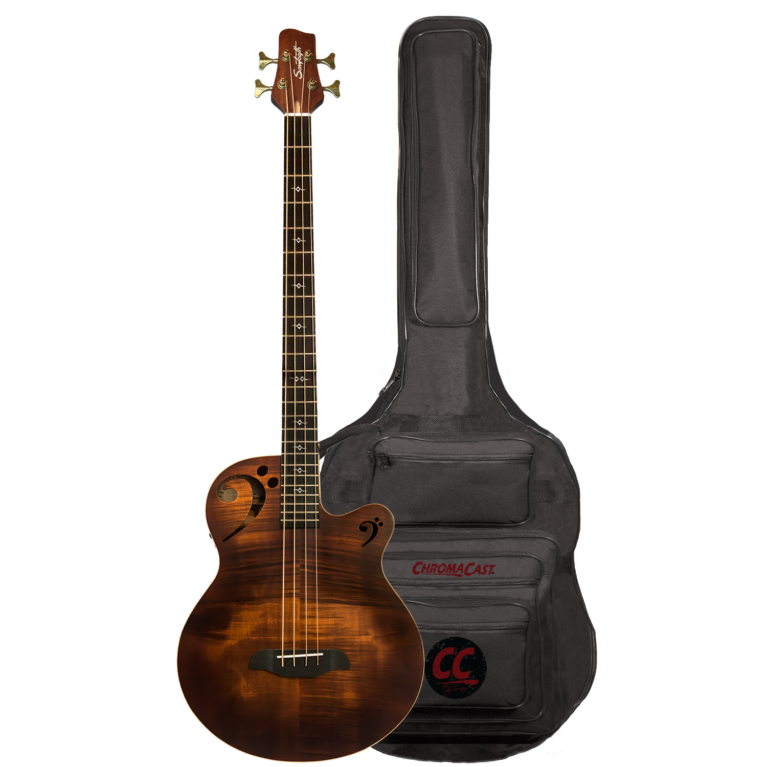 Fretted Acoustic-Electric Bass, RH