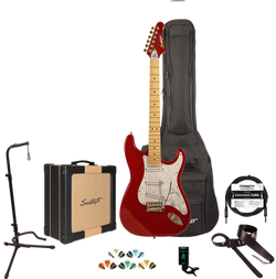 Sawtooth ES Series Electric Guitar Players Pack, With 25 watt Amp Case, Tuner Picks, Cable, Stand &