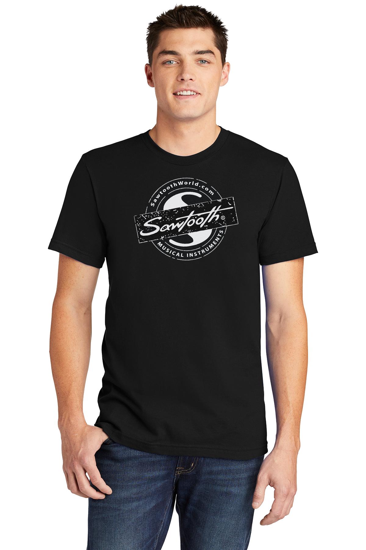 Sawtooth Drum Badge Logo Tee, Black