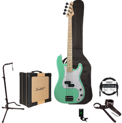 Sawtooth EP Series Electric Bass Guitar Players Pack, With 25 watt Amp Case, Tuner, Cable, Stand & S