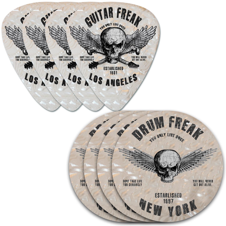 Drum Freak & Guitar Freak Coasters