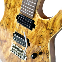 Natural Spalted Maple 24-Fret