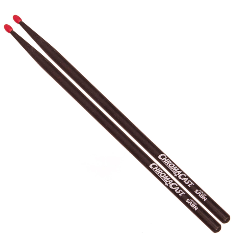5A Black Drumsticks - Nylon Tip