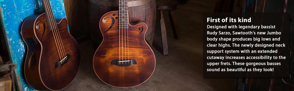 sawtooth acoustic bass guitar