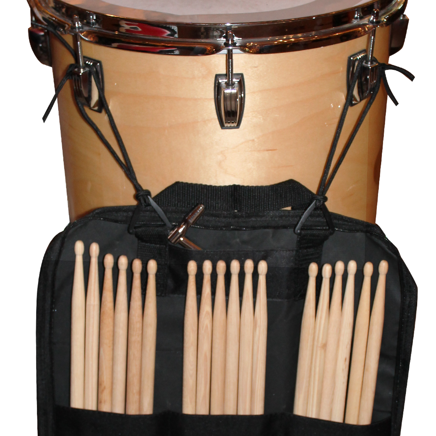 Drum Stick Bag Hanging off Floor Tom