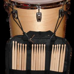Drum Stick Bag Hanging off Floor Tom