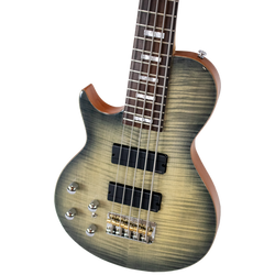 Left-Handed Trans Black 5-String Americana Heritage