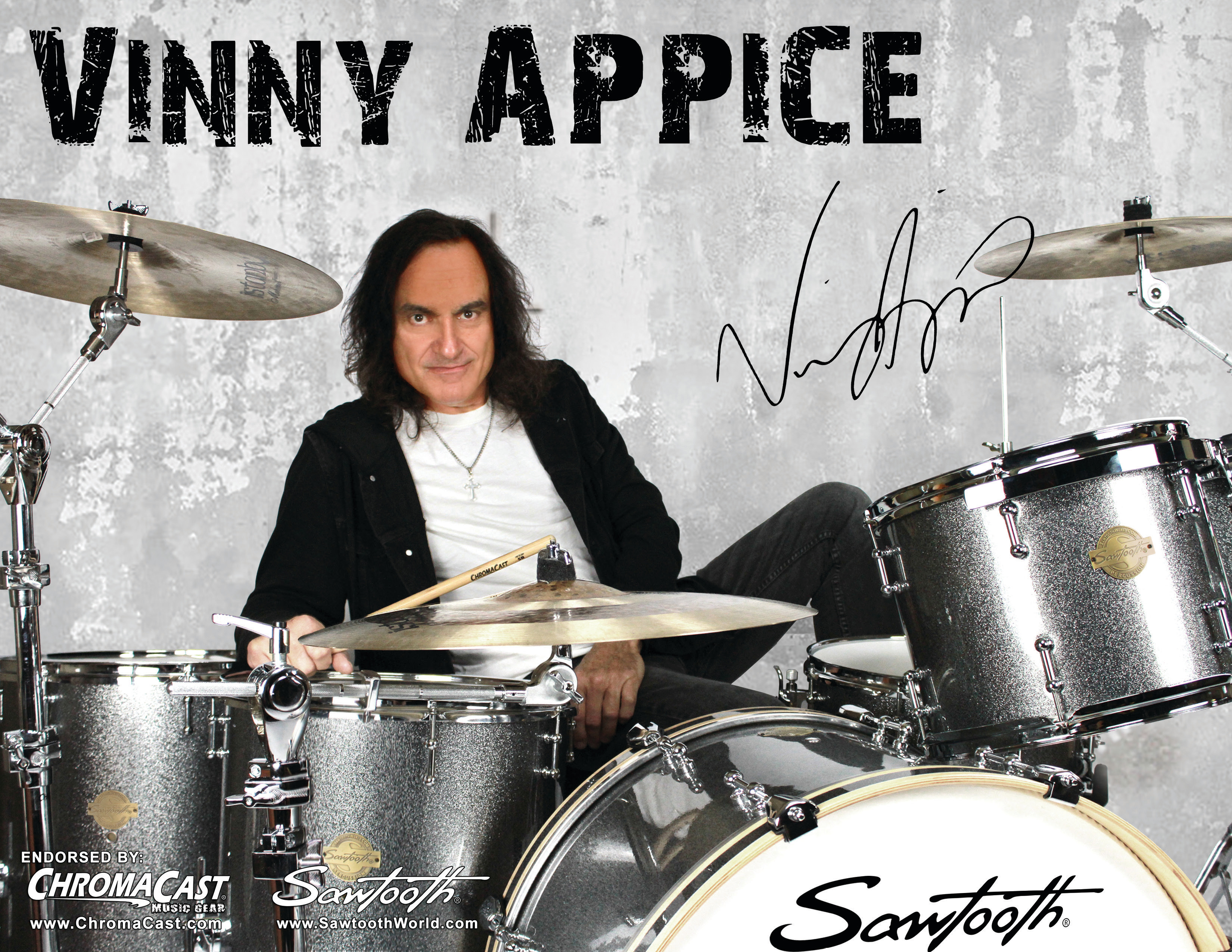 Signed Vinny Appice Poster