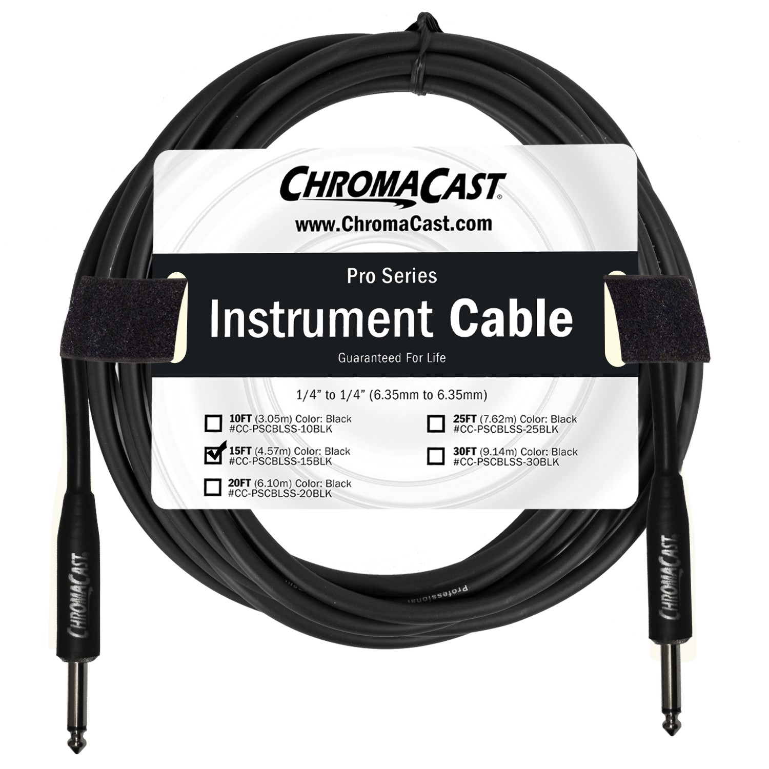 Pro Series Instrument Cable, Black