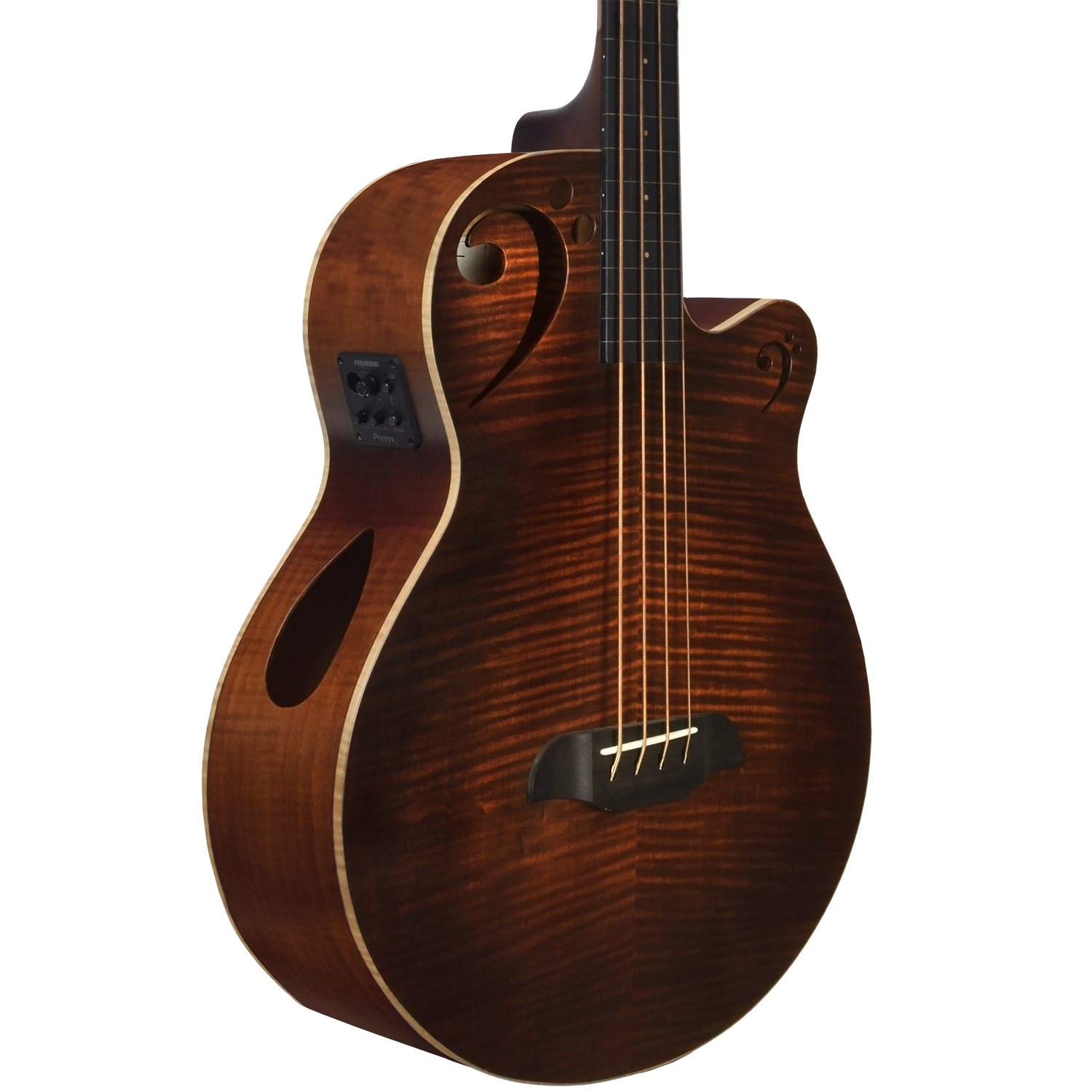 Fretless Acoustic-Electric Bass