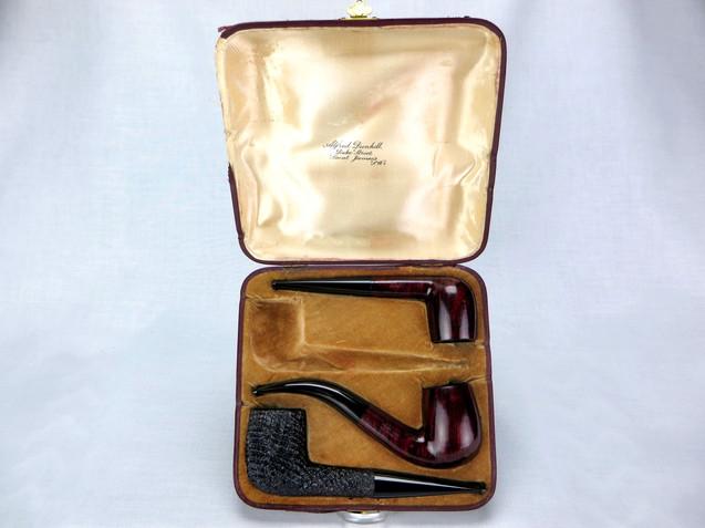 1923 Dunhill Ventage Case 4-Pipe Set