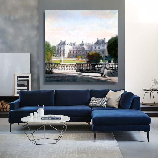 Luxembourg Gardens, PARIS room installed