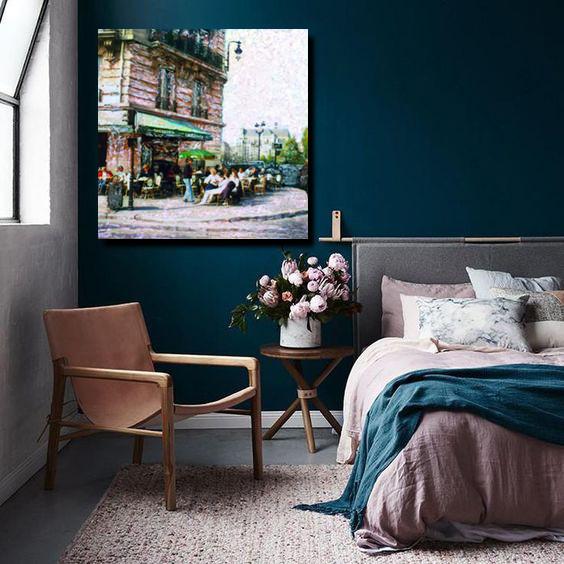 Brasserie, Paris. Room installed
