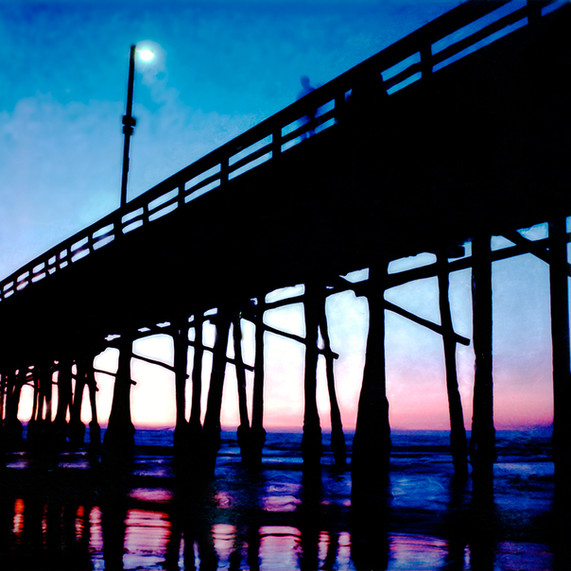 SUNSET NEWPORT PIER