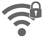 Secure and encrypted wireless network.