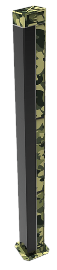 Rx - Profile of TAMING (Transmitter & Receiver). Comprises poles fitted with lasers and infrared-based sensors to detect any intrusion between them.