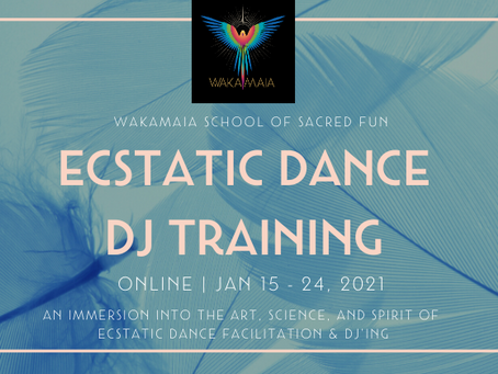 Ecstatic Dance DJ Training, Jan 15 - 24 2021!