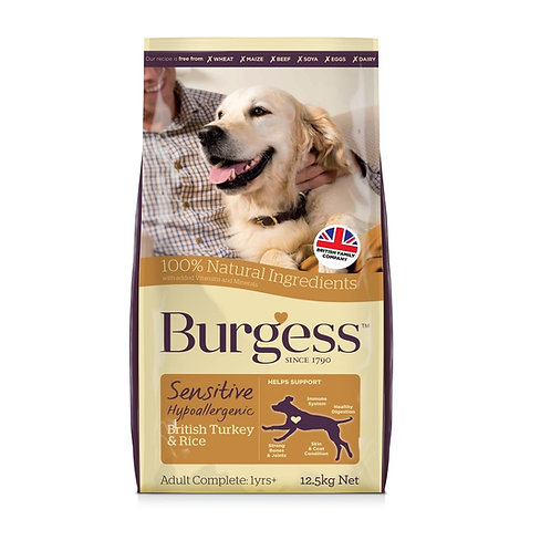 Burgess Sensitive Turkey & Rice 12.5kg