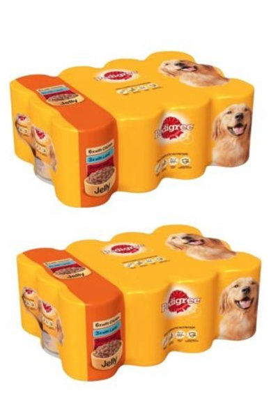 Pedigree Tins Mixed Chunks in Jelly 24 x 400g
