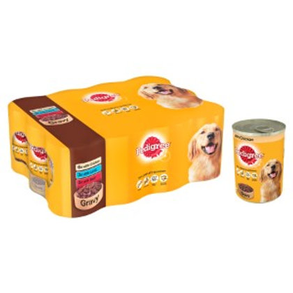 Pedigree Tins Mixed Chunks In Gravy 12 x 400g